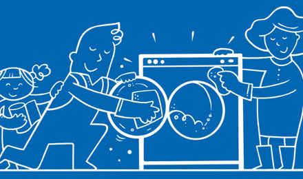 Hvordan rengjøre vaskemaskinen i 5 enkle trinn
