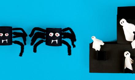 Kaksi pelottavan yksinkertaista halloween-askarteluideaa lapsille