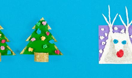 2 belles idées de cartes de Noël à faire soi-même avec les enfants